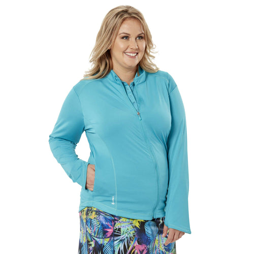 Nancy Lopez Jazzy Jacket Plus Teal