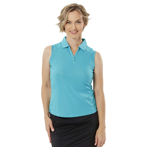 Nancy Lopez Journey Sleeveless Polo Teal
