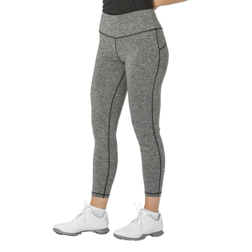 Nancy Lopez Golf Kick Legging Black Heather