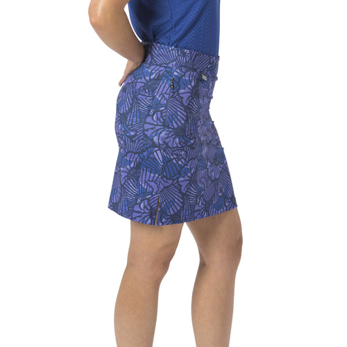 Nancy Lopez Wave Print Club Skort Midnight Multi