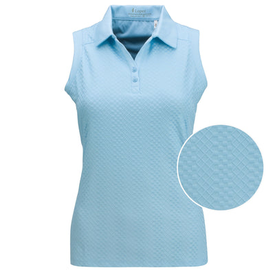 Nancy Lopez Golf Grace Sleeveless Polo Plus