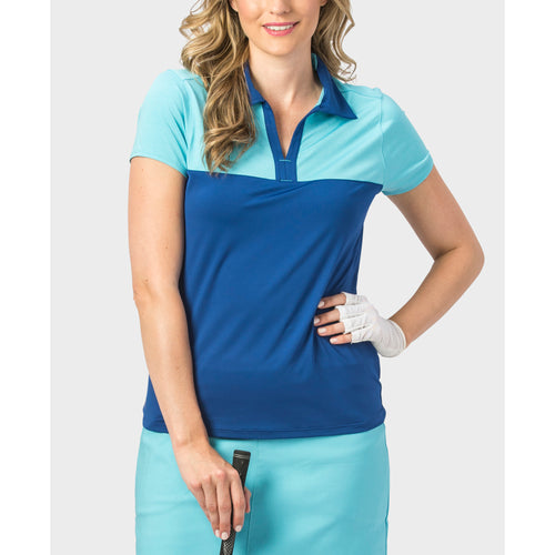 Nancy Lopez Pursuit Short Sleeve Polo Twilight/Aquarius