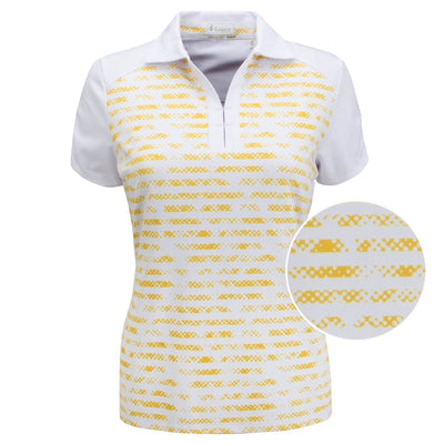 Nancy Lopez Race Short Sleeve Polo Plus White Multi