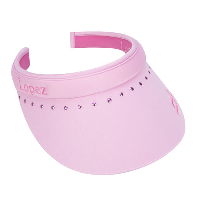 Nancy Lopez Club Reverse Clip Visor Cameo/Hot Pink
