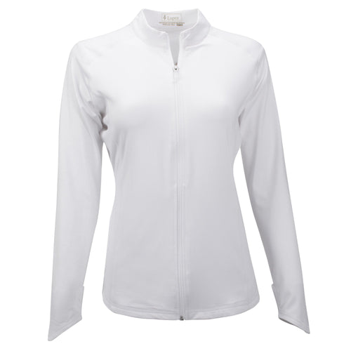 Nancy Lopez Jazzy Jacket Plus White