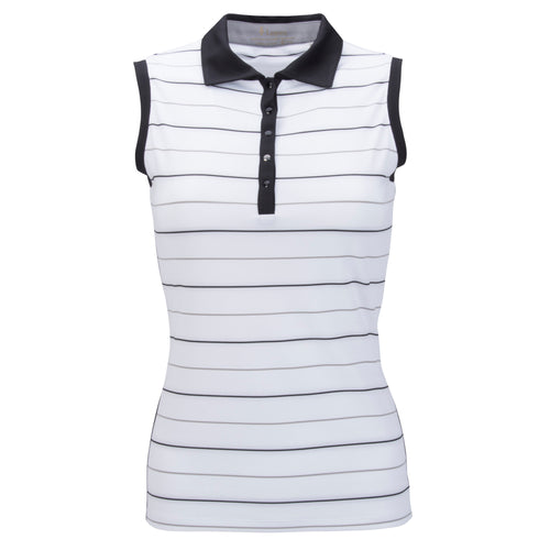 Nancy Lopez Dream Sleeveless Polo Plus White Multi