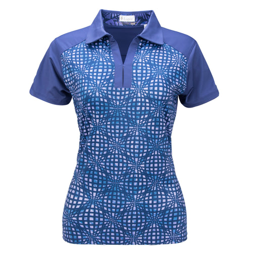 Nancy Lopez Spirit Short Sleeve Polo Plus Midnight Multi