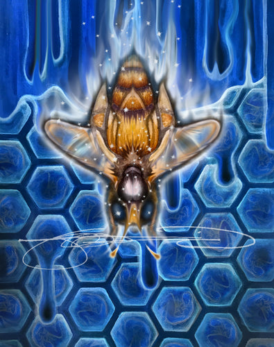 Bee- Digital Print / Animal of the Inner Alliance Oracle (file download)