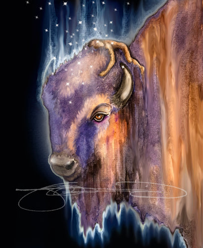 BISON- Digital Print / Animal of the Inner Alliance Oracle (file download)