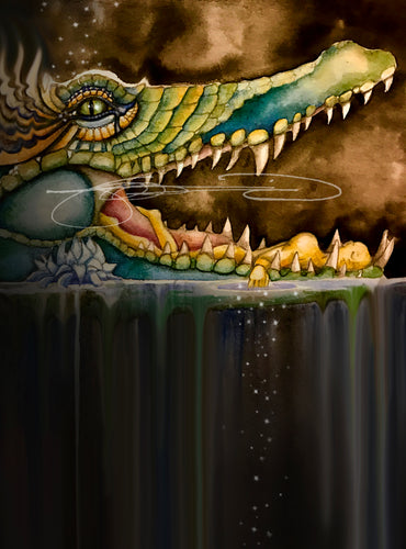 Crocodile- Digital Prints / Animal of the Inner Alliance Oracle (file download)