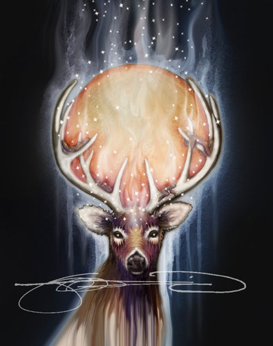 Deer- Digital Print / Animal of the Inner Alliance Oracle (file download)