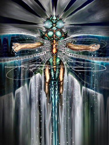 DragonFly- Digital Print / Animal of the Inner Alliance Oracle (file download)
