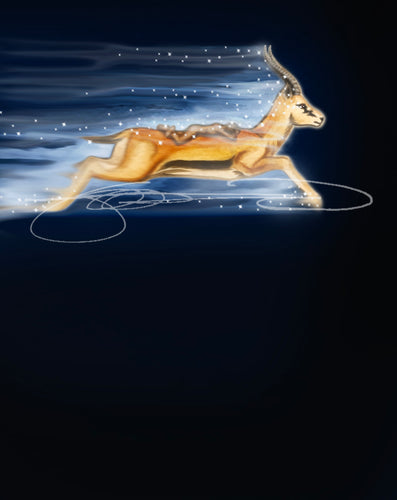Gazelle- Digital Print / Animal of the Inner Alliance Oracle (file download)