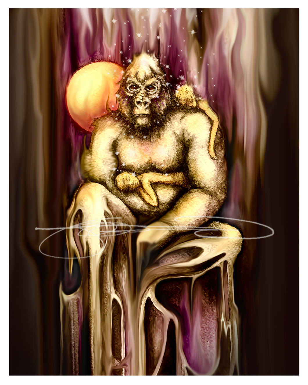 Gorilla- Digital Print / Animal of the Inner Alliance Oracle (file Download)