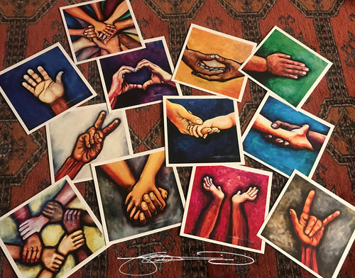 HANDS ❤️ Original Hand Portraits offered as  Note Cards-sets of 12- FREE shipping