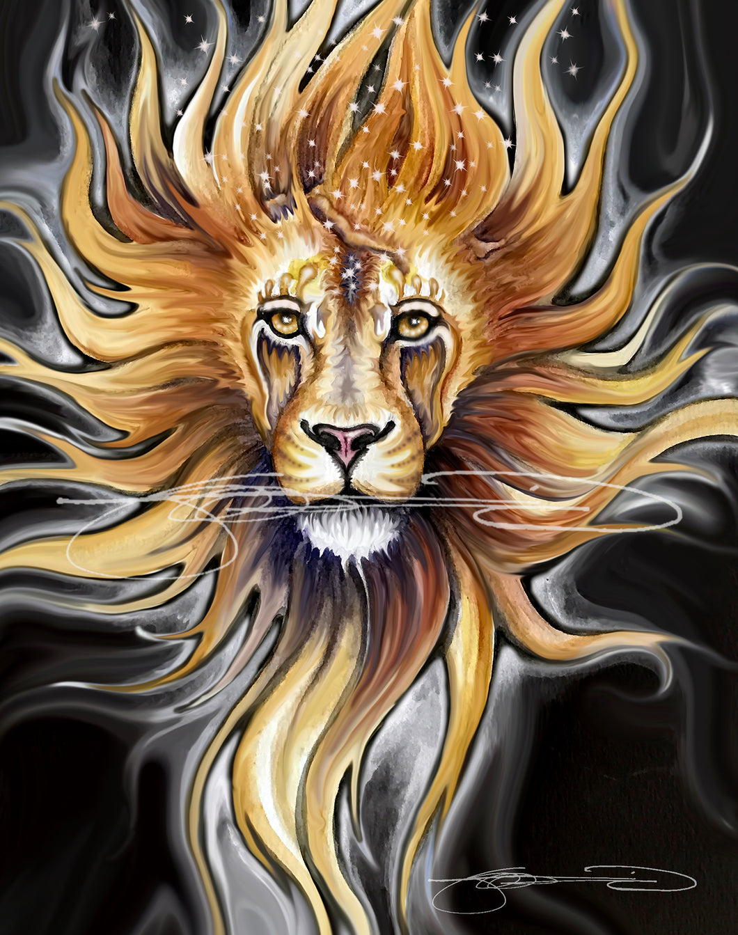 Lion- Digital Prints / Animal of the Inner Alliance Oracle (file download)