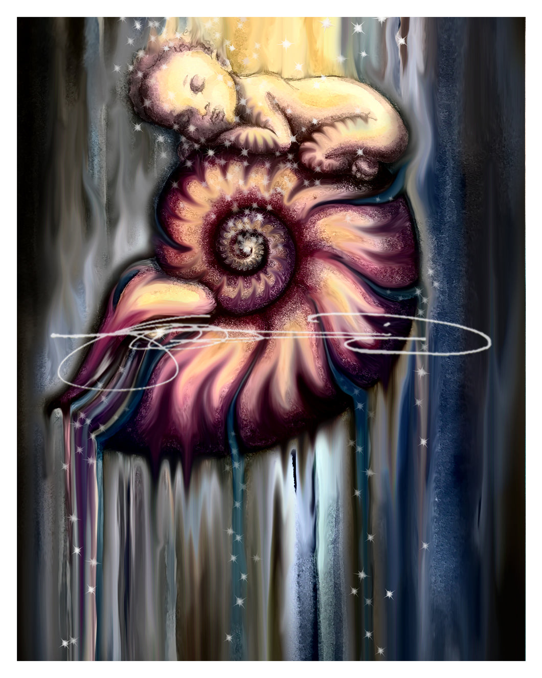 Nautilus- Digital Print / Animal of the Inner Alliance Oracle (file download)