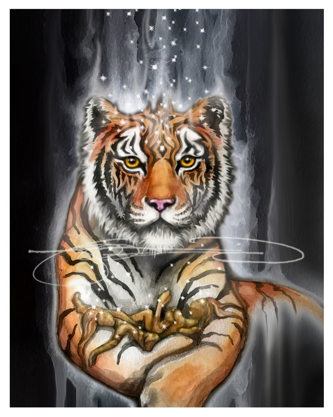TIGER- Digital Print / Animal of the Inner Alliance Oracle (file download)