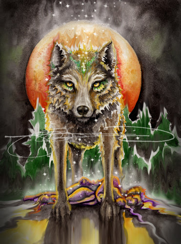 Wolf- Digital Print Art / Animal of the Inner Alliance Oracle (file downloads)