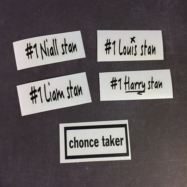 One Direction Solo Stan Vinyl Decal Stickers