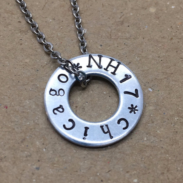 Niall Horan Hand Stamped Concert Necklace custom made featuring the city of your Niall show