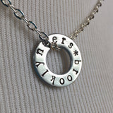 ERS Tour Custom Hand-Stamped Tour Washer Necklace