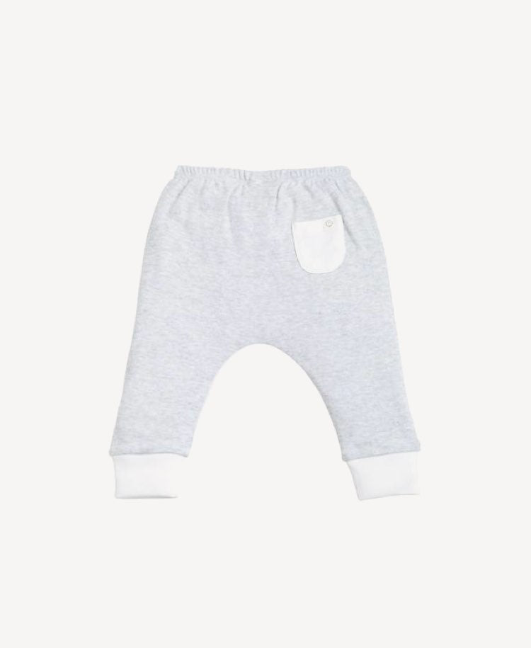 Baby MORI Yoga Pants - Grey / White