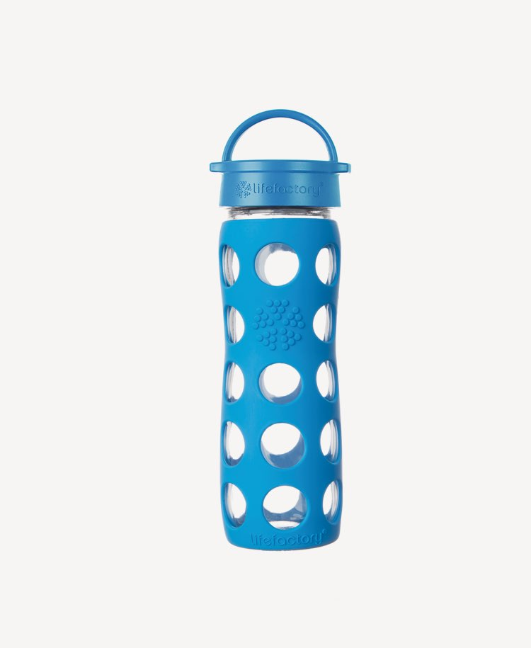 Life Factory Glass Drinking Bottle - Ocean (475 mls)