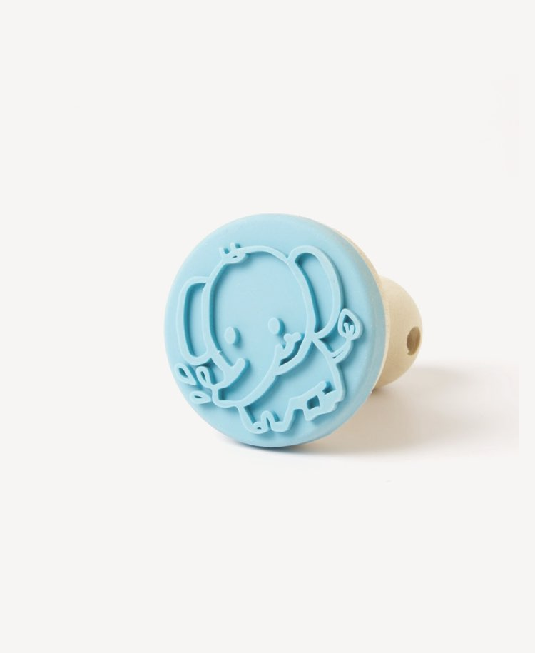 Ailefo Wooden Clay Stamp - Elephant