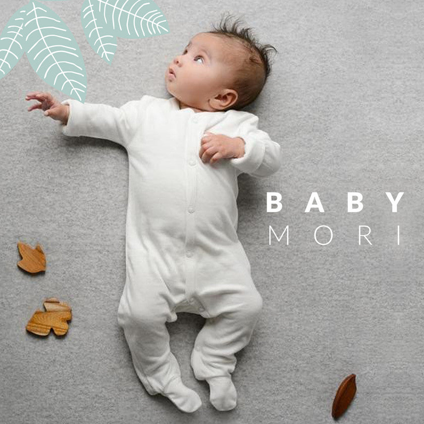 Crafted with the finest organic cotton, the Baby Mori collection is the perfect first wardrobe for your new arrival. With the softest babygrows, hats and bibs, look no further for your ideal hospital bag filler