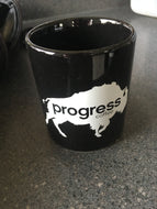 Black Progress Coffee Mug