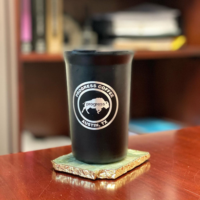 Circle Logo Black Tumbler 12 oz