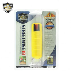 Lab Certified Streetwise 18 Pepper Spray 1/2 oz HARDCASE YELLOW
