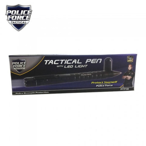 Police Force Tactical Pen w/ Light & DNA Collector