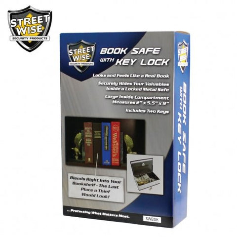 Streetwise Locking Book Safe with Key