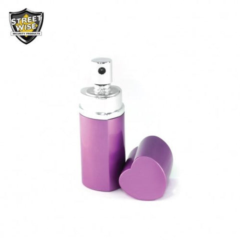 Lab Certified SW 18 3/4 oz Heart Perfume Pepper Spray BLACK or PURPLE