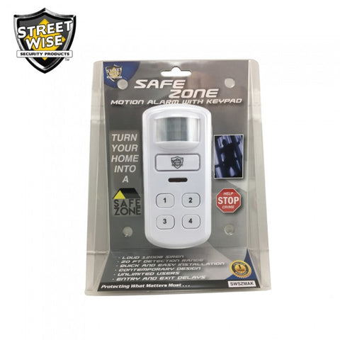 Streetwise SafeZone Motion Activated Alarm w/Keypad.