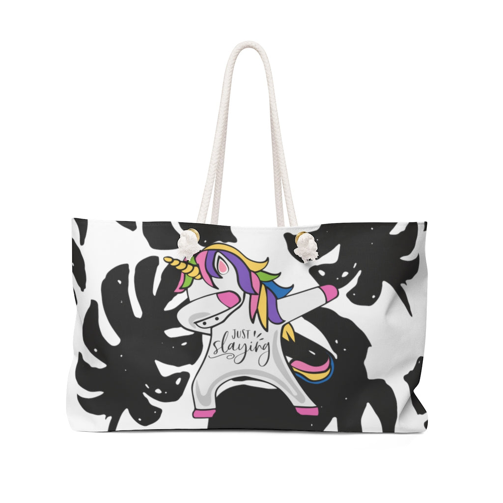 """Just Slaying Unicorn"" Weekender Bag"