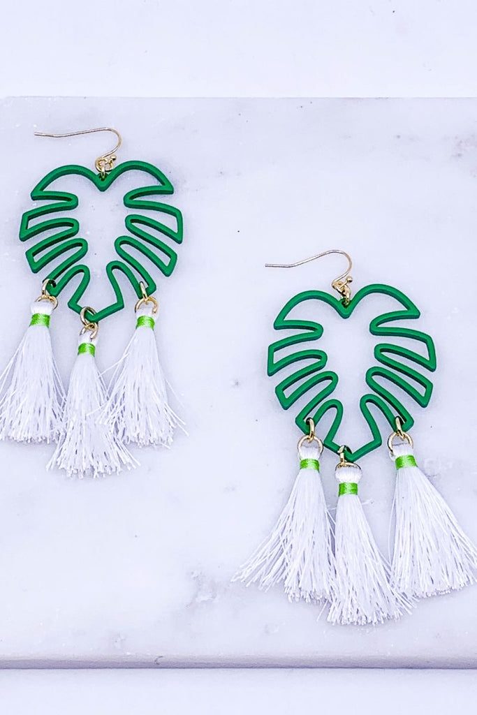 Cali Leaf Statement Earrings
