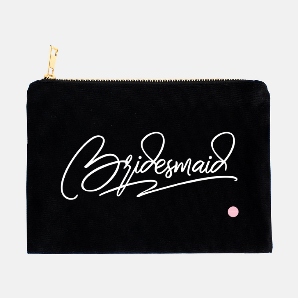 """Bridesmaid"" Canvas Makeup Bag"