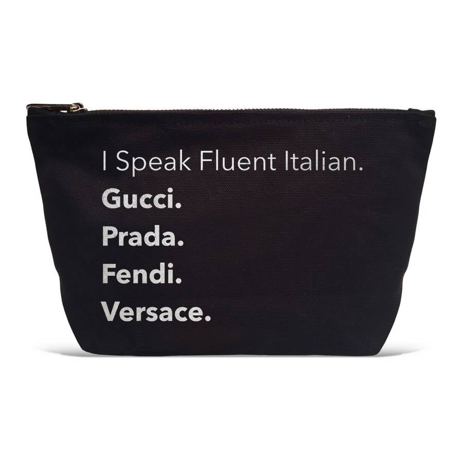 """Fluent Italian"" Makeup bag"