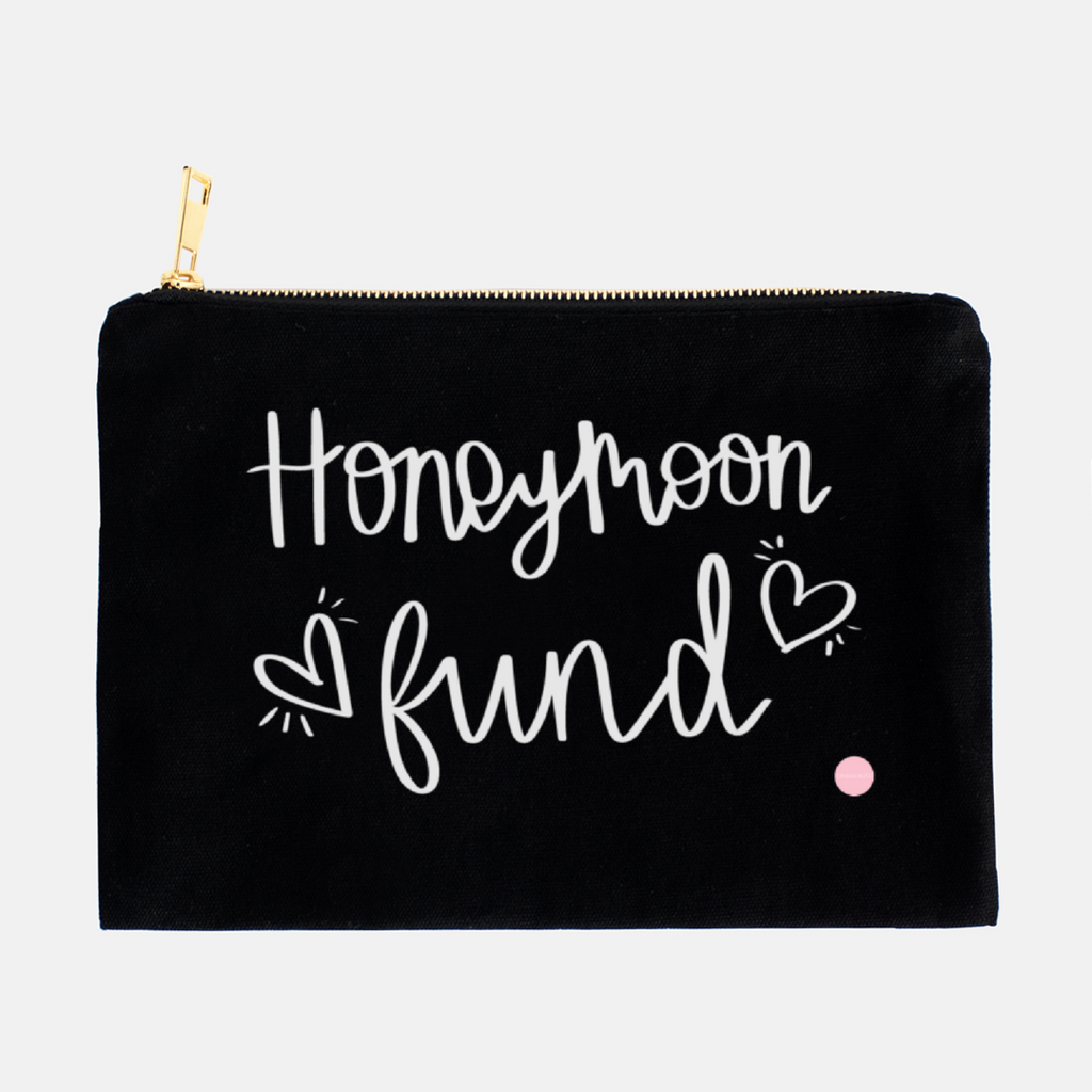 """Honeymoon Fund"" Canvas Makeup Bag"