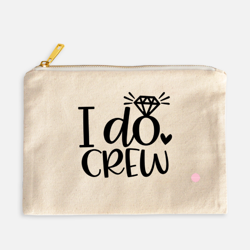 """I Do Crew"" Canvas Makeup Bag"