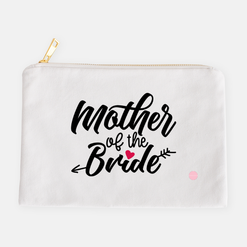 """Mother Of The Bride"" Canvas Makeup Bag"