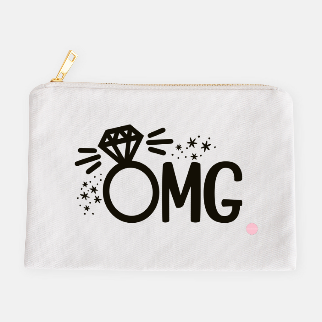 """OMG"" Canvas Makeup Bag"
