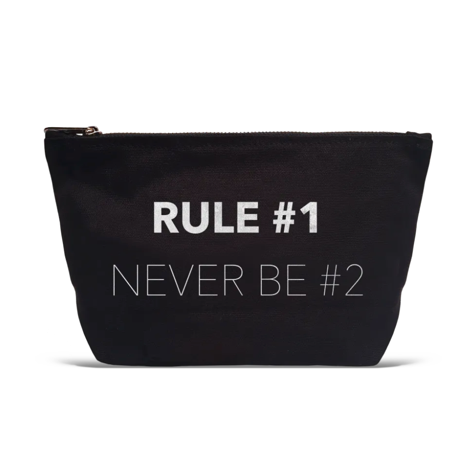 """Rule #1"" Makeup Bag"