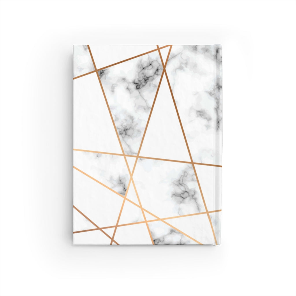 SELF CARE IRL HARDCOVER JOURNAL - RULED LINE (MARBLE & GOLD)