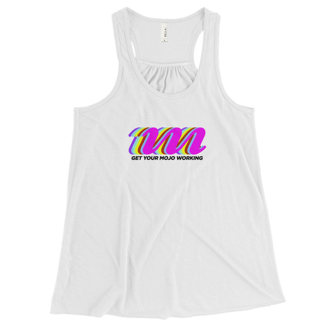 Retro Logo Light-Themed Women's Flowy Racerback Tank