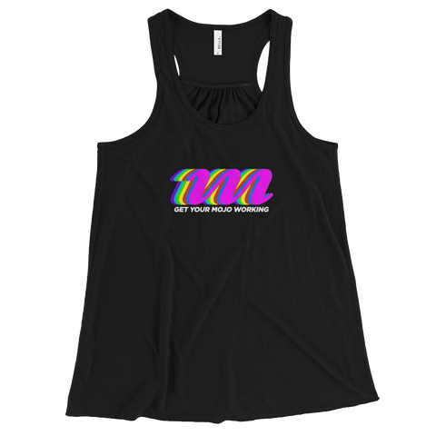 Retro Logo Dark-Themed Women's Flowy Racerback Tank