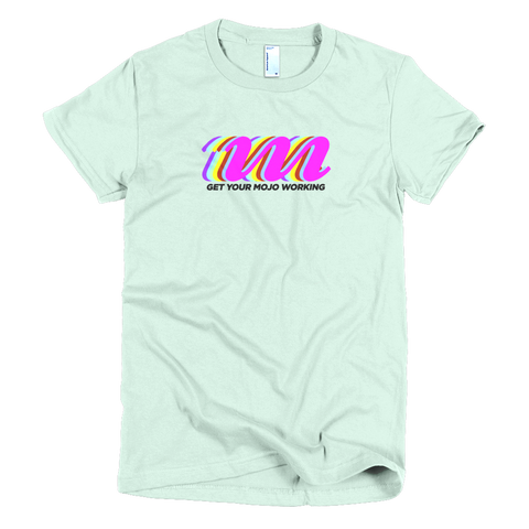 Retro Logo Light-Themed Short Sleeve Women's T-shirt